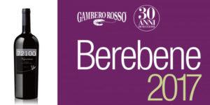 72100 Negroamaro Igt Salento 2014 ha ottenuto l'Oscar per l'ottimo rapporto qualità/prezzo 2017